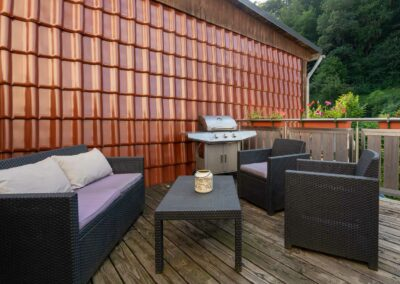 Ferienwohnungen Dylag, Bad Grund, Terrasse mit Grill